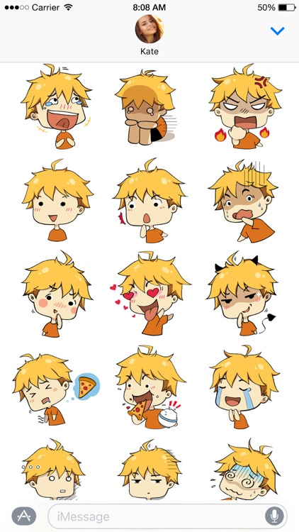 Hiroki stickers ~ the boy with golden hair screenshot-3