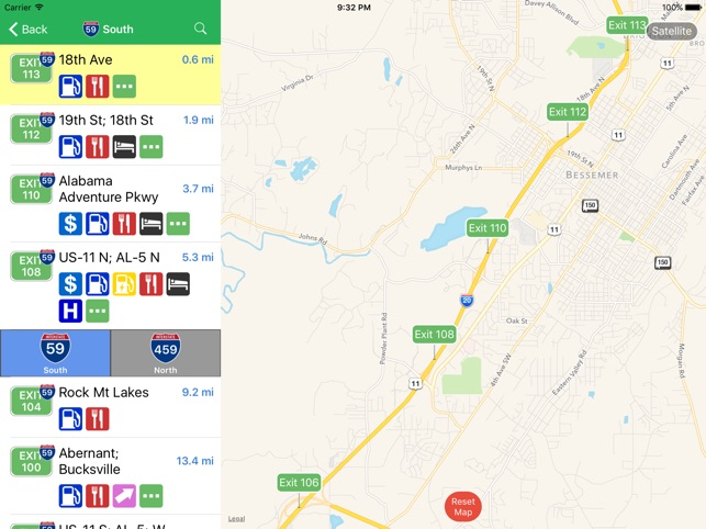 Map Of Georgia Rest Areas.Iexit Interstate Exit Guide On The App Store