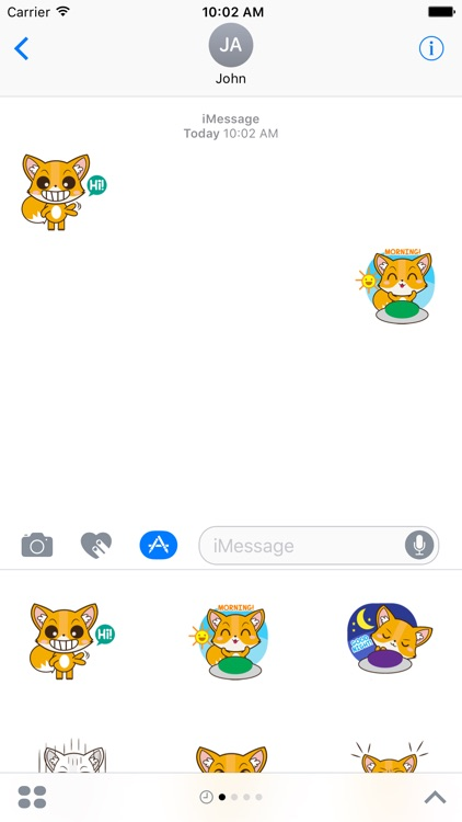 Cute Fox Sticker For iMessages screenshot-3