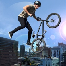 Activities of Extreme City Rooftop Free-Style Bike Rider Stunts