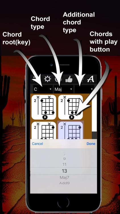 Banjo Chrods Compass: lots of chord charts
