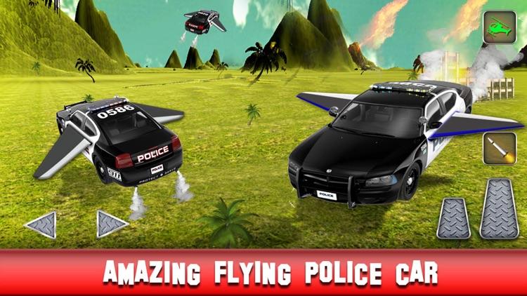 Flying Police Car: Flight Simulator 2016 Car Chase