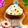 Weihnachts-Muffins Cupcakes Backen Weihnachten