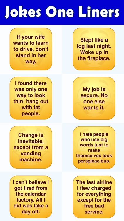 Jokes One Liners - Stickers Set 2