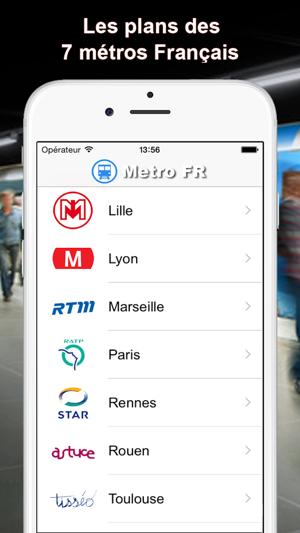 Lyon France Metro Map.Metro Fr Paris Lille Lyon On The App Store