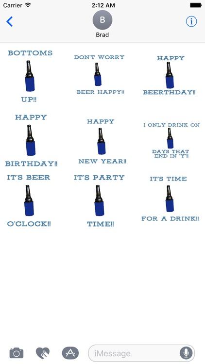 Beer Stubbie Messages