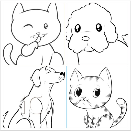 How To Draw Easy Cats And Dogs By Lvxiang Song
