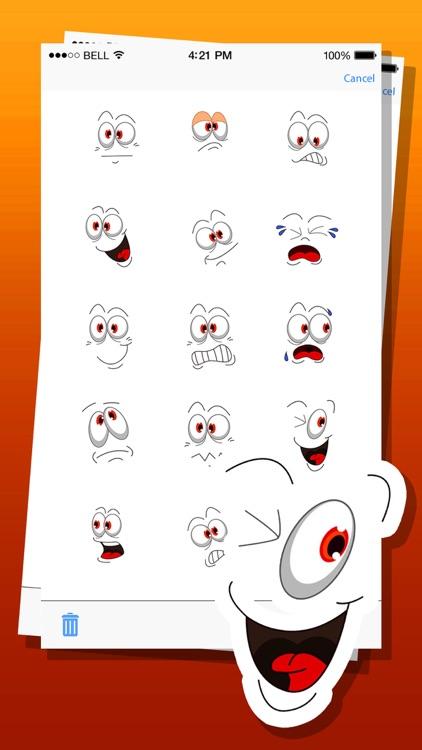 Cute Eyes Expressions Emoji Stickers
