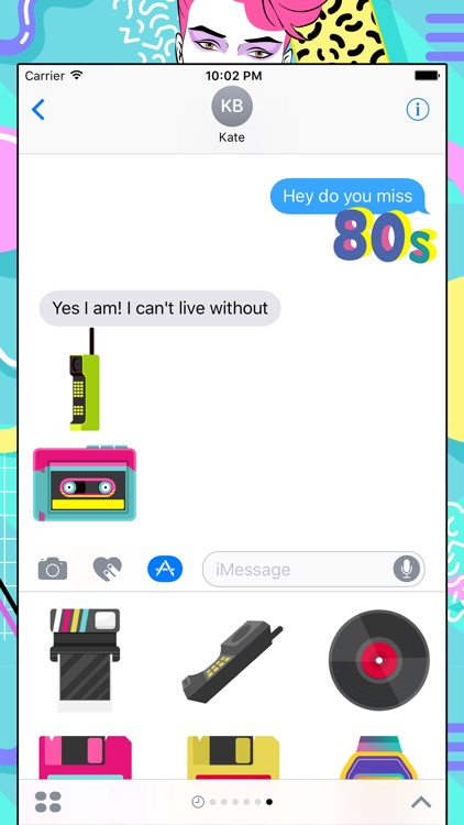 80s Emoji Retro Flashback Stickers for iMessage