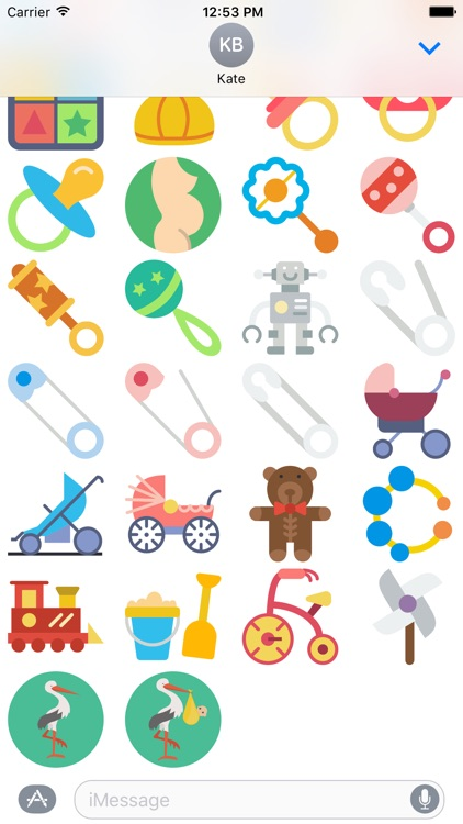 Baby Stickers for iMessage - Pregnancy Mom Emojis