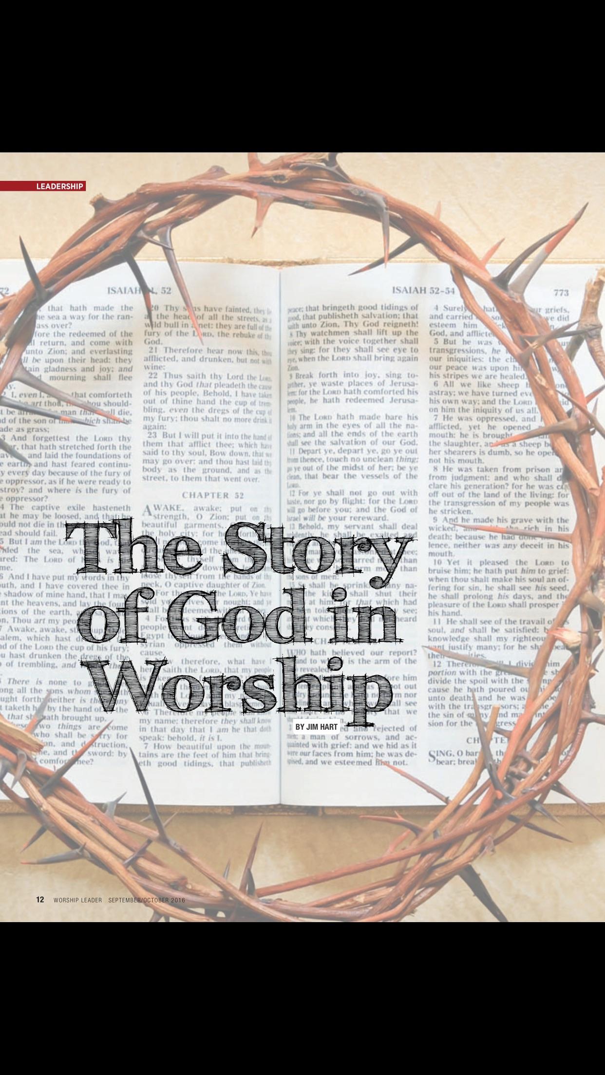 Worship Leader Magazine Screenshot