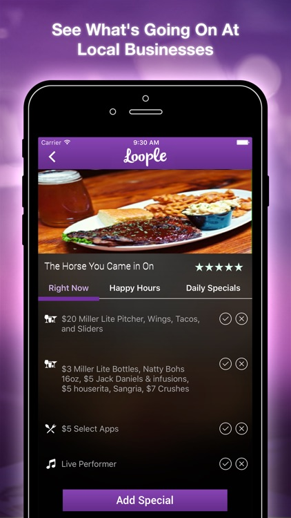Loople: Happy Hours,Bar Specials,Live Music Finder