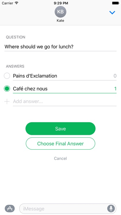 Choose - Polls in Chats