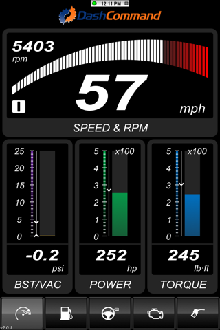 DashCommand - OBD-II gauge dashboards, scan tool screenshot 1
