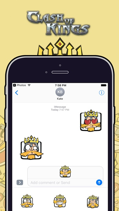Clash of Kings Sticker Pack Screenshot