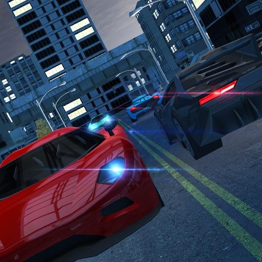 ночь трафик автомобиль дрейфа вождения и парковки