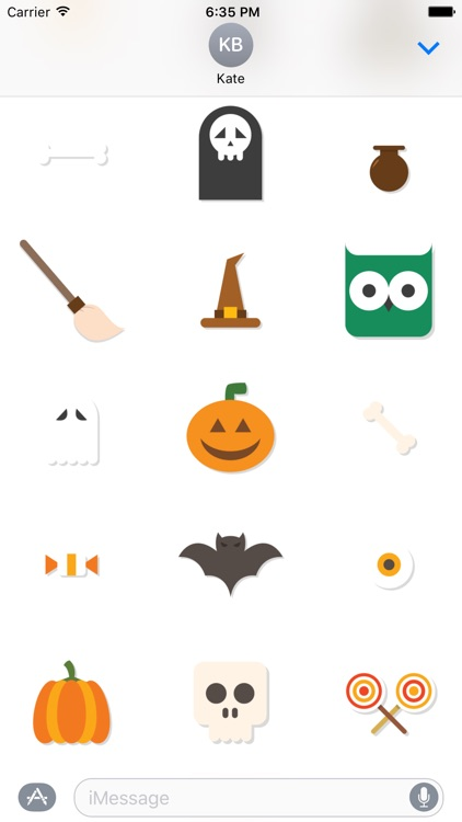 Halloween Sticker Pack and Emoji for iMessage Chat screenshot-3