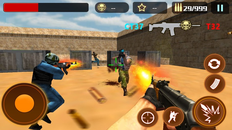 Counter terrorist:multiplayer fps shooting games screenshot-3