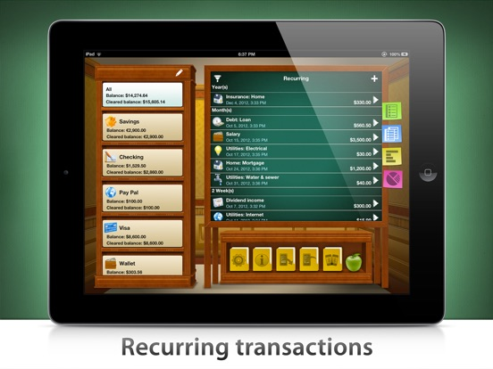 Checkbook HD: Personal finance Screenshots