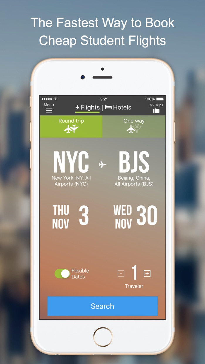 Flights by StudentUniverse Screenshot