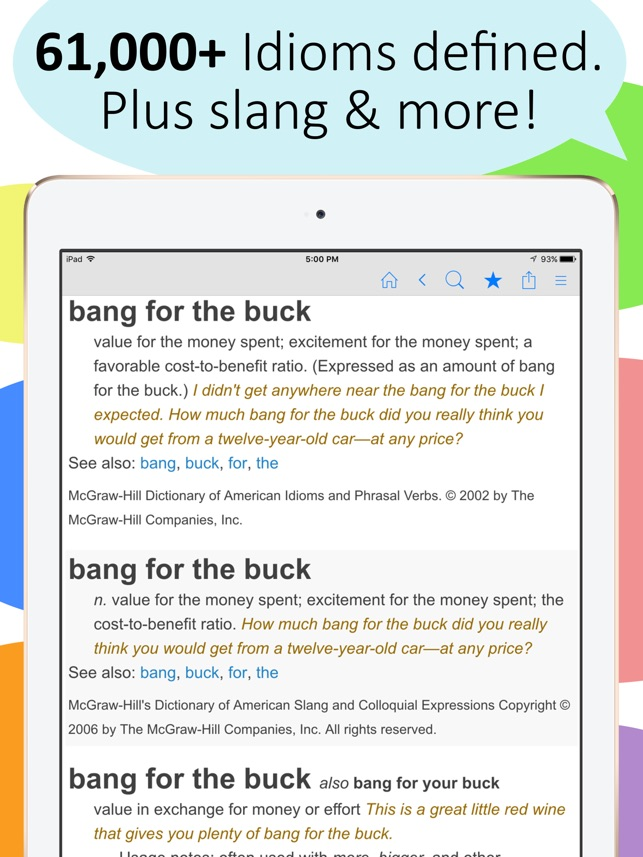 Idioms and Slang Dictionary - Word History & More on the App Store
