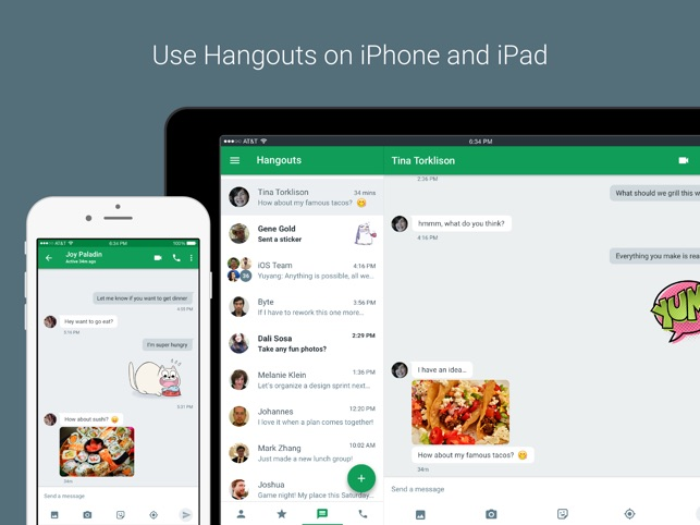 Hangouts on the App Store