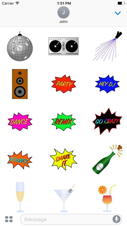 Disco & Party Sticker