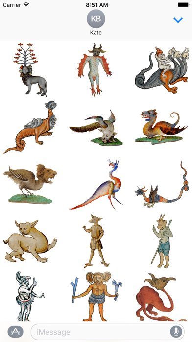 Medieval Monster Stickers