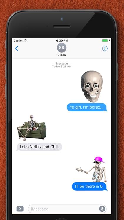 Skelly Stickers: Skulls and Skeletons screenshot-4