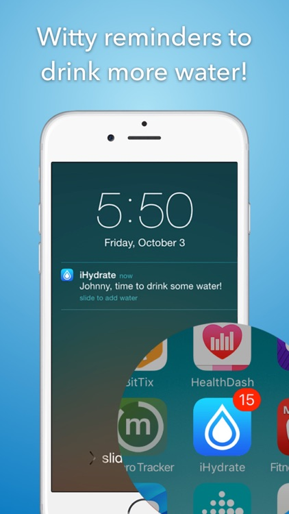 iHydrate -Daily Water Tracker & Hydration Reminder