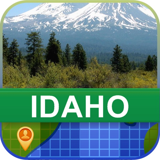 Offline Idaho, USA Map - World Offline Maps