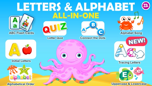 Letter Quiz, Alphabet & ABC Tracing app for kids on the App Store