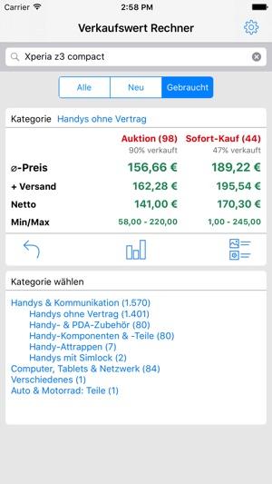 Verkaufswert Rechner Im App Store