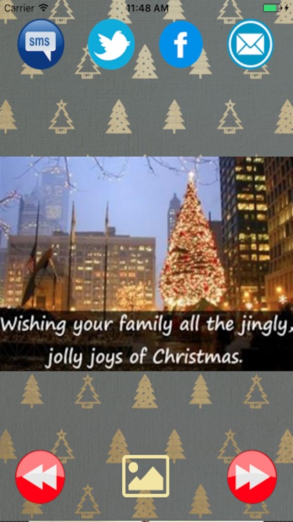 Merry Christmas greetings card and New Year 2017