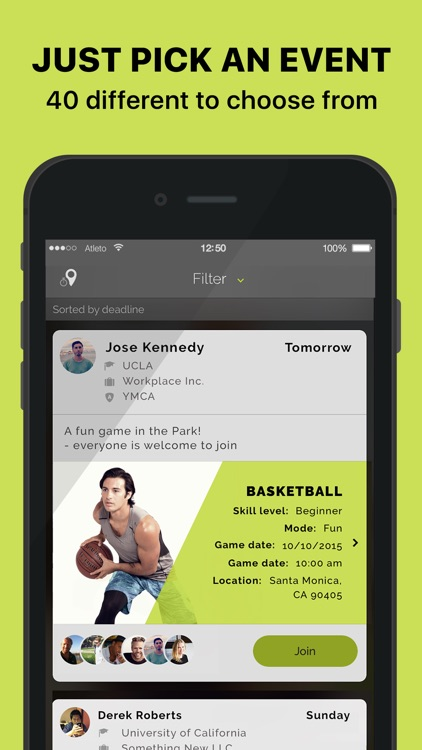 ATLETO - Your Social Sports Network #sporttogether
