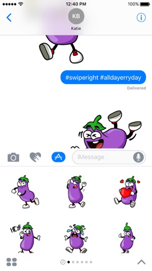 Eggplant Stickers Screenshot