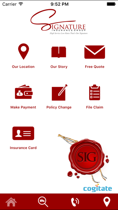 Signature Insurance by Cogitate Technology Solutions inc