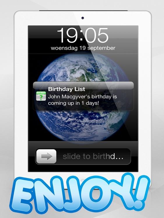 Birthday Count Down - My Birthdays Calendar !