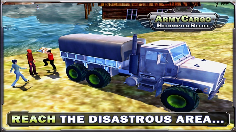 Army Cargo Helicopter Relief & Truck sim games screenshot-3