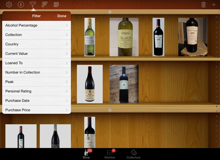 Wine Collectors for iPad