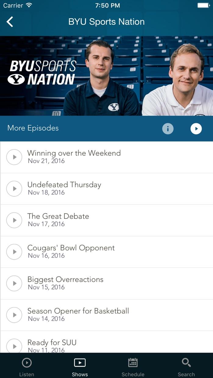 BYUradio Screenshot