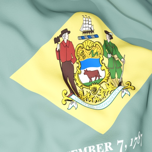 Delaware Flag Stickers