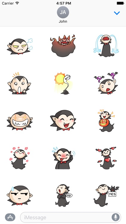 Vampire Dracula Sticker For iMessages