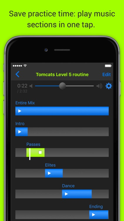 MixPlay Cheer and Dance Choreography Music Player screenshot-0