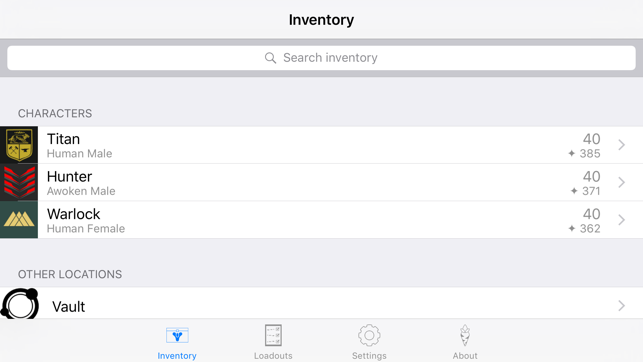 Inventory Manager for Destiny on the App Store