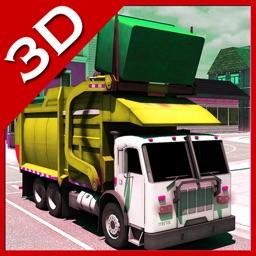 City Garbage Pickup Truck Driving Simulator