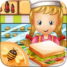 Activities of Master Chef Sandwich Maker Baking Hamburger Pastry