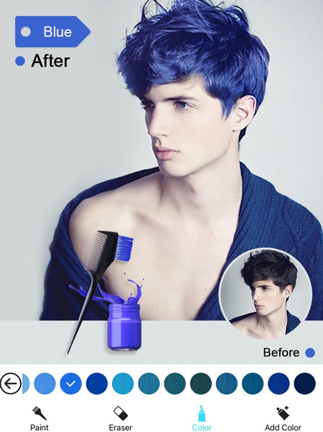 Hair Color Dye Switch Hairstyles Wig Photo Makeup On The App Store - Hair colour editor download