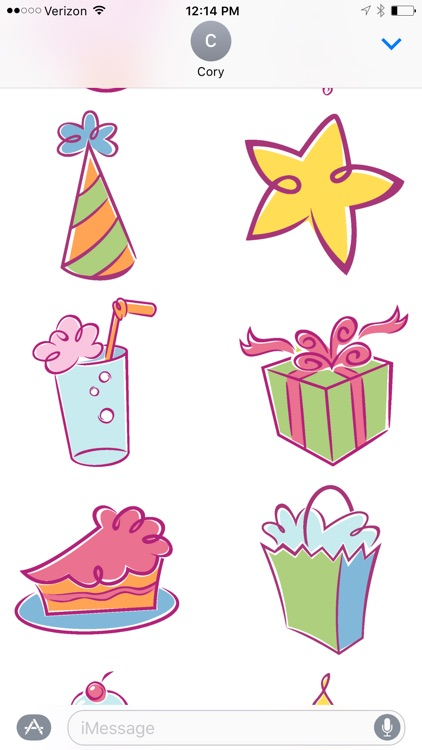 Birthday Design Sticker Pack screenshot-1