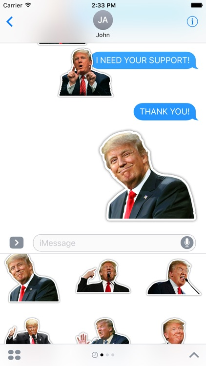 TRUMP STICKERS for imessage-45th president of USA